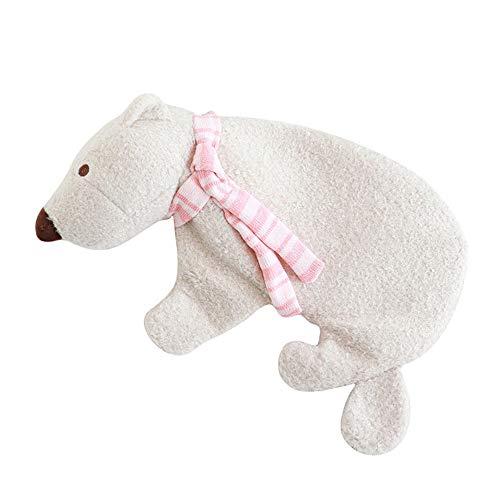 LIDEBLUE Bouillotte avec housse en peluche en forme d'ours polaire, sac à...