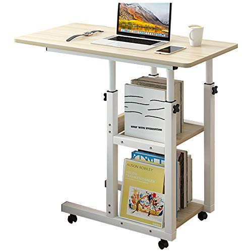Home Office Desk 30x15'' Moveable Height Adjustable Modern Computer PC...