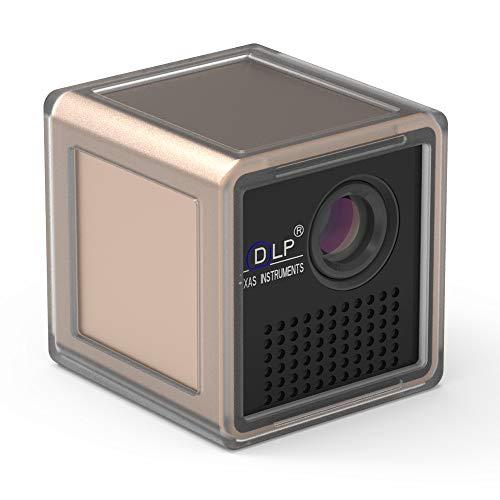 Proiettore portatile distanza regolabile P1 + H 5V 2A uscita DLP Motore ottico di ricarica USB LED...