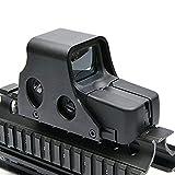 Yingyou Scope Tactical Mini Holographic Reflex Sight Red Green Dot Scope Light Adjustable Brightness Gun Rifle Shooting Spotting 551 Model