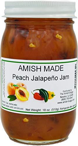 Amish Peach Jalapeno Jam - Two 18 Oz Jars