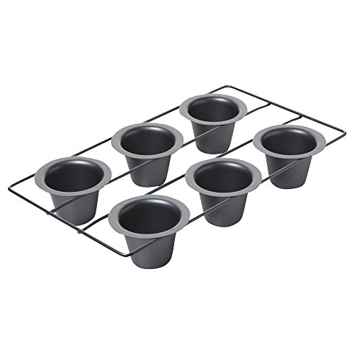 Chicago Metallic Professional 6-Cup Popover Pan, 15.5-Inch-by-9-Inch