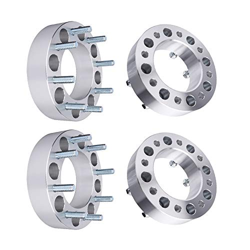 """BRTEC 2"""" Thick/8x6.7'/8x170mm Pattern/Inner Diameter: 125mm Wheel Spacers Fit 2000-2002 for Ford Excursion; 1999-2004 for Ford F250/F250 Super Duty/F350 Super Duty Wheel Spacers 4pcs"""