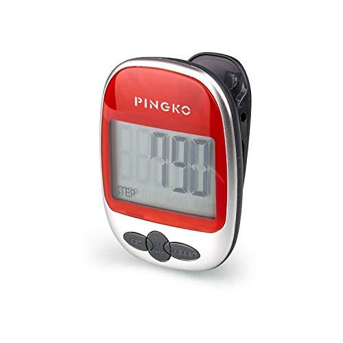 PINGKO Pedometro Contapassi Conta Passi Accuratamente Contapassi Sportivo Portatile Passi/Distanza/Calorie/Contapassi per Fitness, Contatore di Calorie