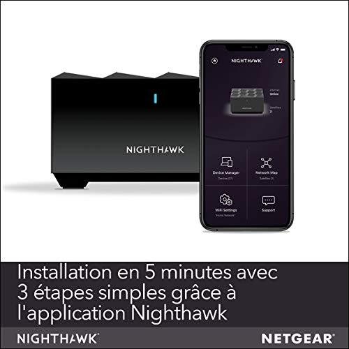 41RFeciLMLL._SL500_ [Bon plan] !  NETGEAR Système WiFi 6 Mesh Nighthawk (MK62) – Routeur WiFi 6 AX1800 pack de 2 pour un wifi partout dans la maison,...