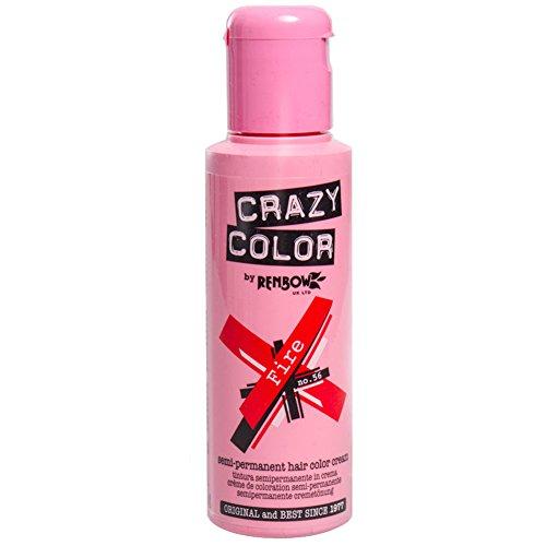 Crazy Color Fire Nº 56 Crema Colorante del Cabello Semi-per