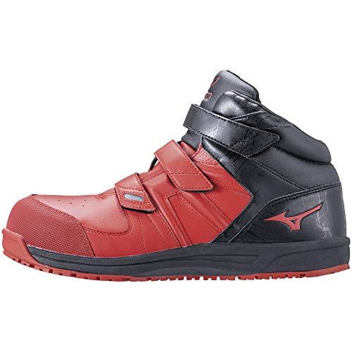 [ミズノ] 安全靴 オールマイティ SF21M 軽量 ミッドカット ベルト クッション JSAA・普通作業用(A種) メンズ レッド×ブラック 28 cm 3E