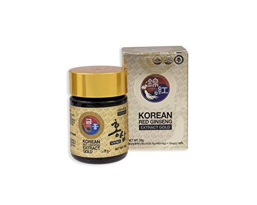 Ginseng rosso coreano, estratto gold, 50 g, dose per 45 giorni, la migliore qualit di Ginseng rosso coreano, la massima concentrazione possibile di Ginsenosidi (Rg1, Rb1, Rg313mg/g)
