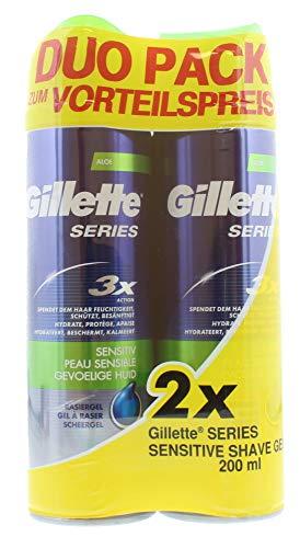 Gillette Series Sensible, Gel Da Barba, Set Di 3 Pezzi (3 X 2 X 200Ml - 200 Ml