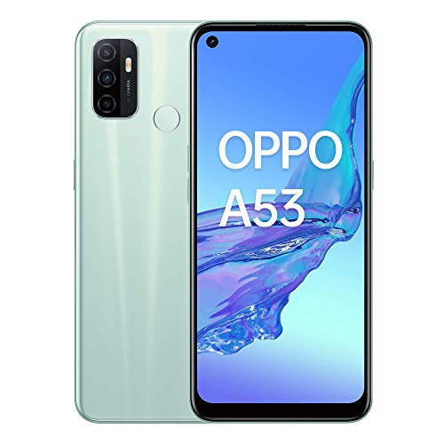 """Oppo A53 – Pantalla de 6.5"""" (Neo-Display de 90Hz, 4GB/64 GB, Snapdragon 460, 5000mAh, Carga Rápida 18W, Triple Cámara con IA, Dual Sim) Mint Cream [Versión ES/PT]"""