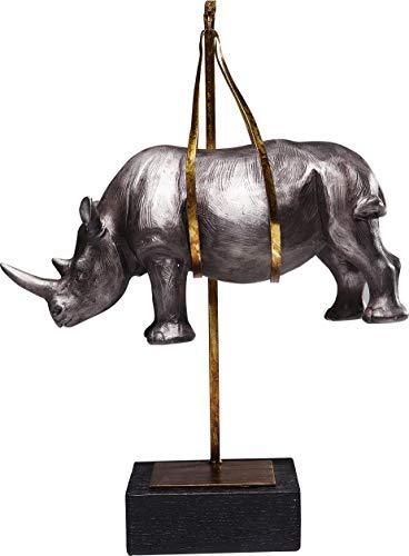 Kare Design Statuetta Decorativa Hanging Rhino, Multicolore, 43x25.5x15cm