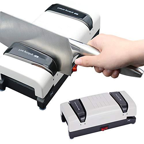 AKT Elektrisch Messerschärfer Küchenschleifermesser Maschine Multifunktionale Automatische Haushaltsmesser Schärfer 3 Stufiger Schneller Schleifstein,V1