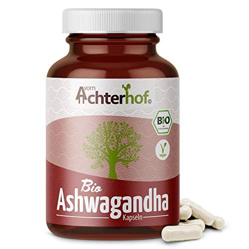 Ashwagandha Kapseln BIO (150 Stück) | 500 mg pro Kapsel | indischer Ginseng | 100% Vegan