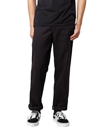 Dickies Men's Flex Work Pant Slim Straight Fit, Black, 33 32