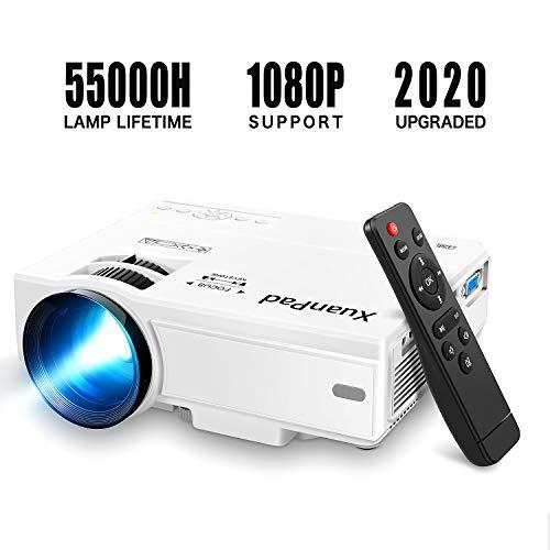XuanPad Mini Projecteur Vidéoprojecteur Portable Retroprojecteur,Multimédia Home Cinéma Full HD Pordinateur