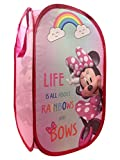Jay Franco Disney Minnie Mouse Rainbow Bows Pop Up Hamper - Mesh Laundry Basket/Bag with Durable Handles, 22' x 14' (Official Disney Product)