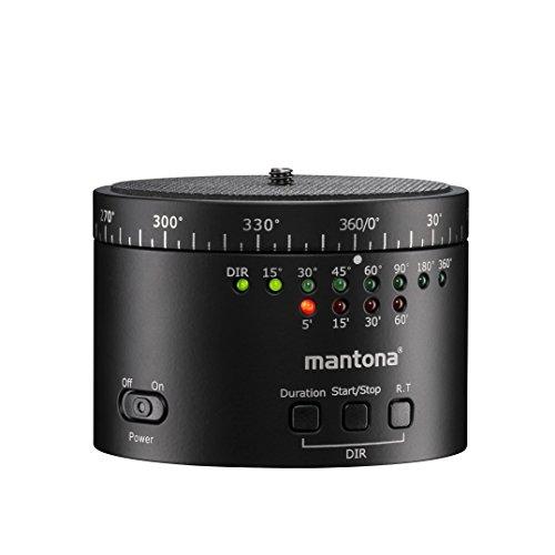 Stead Pod Mantona Turnaround 360Automatic Panorama Treppiede testa Version 2.0per Time lapse e Intervallo foto riprese con filettatura (3/8su 1/4pollici) Nero
