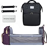 Portable Fodable Crib Diaper Bag Backpack, Waterproof Travel Bassinet Foldable Baby Bed, with...