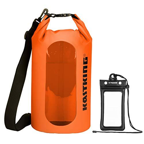 KastKing Floating Waterproof Dry Bag, Orange Dry Bag Combo, 10L