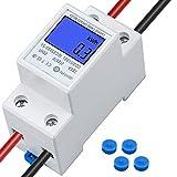 TDDL Compteur électrique Monophasé 5-80 A 230V 50Hz Compteur d'énergie...
