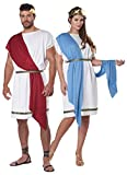 Adult Party Toga Greek 2-in-1 Halloween Costume Size L/XL White