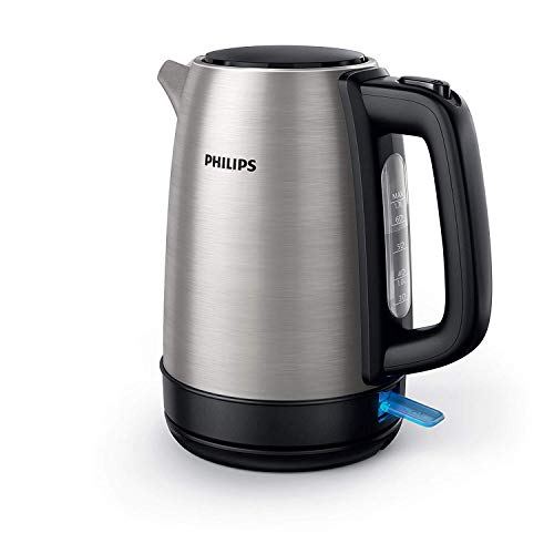 Philips HD9350/90 Bollitore elettrico 2200 Watt, Capacit 1,7 litri, Corpo principale in Acciaio inossidabile, Spegnimento automatico
