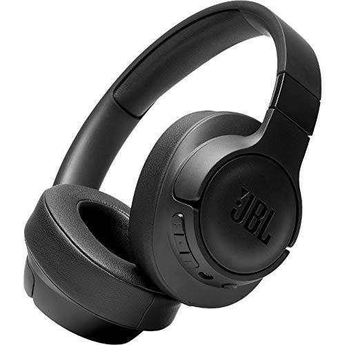JBL Tune 700BT - Auriculares supraaurales con Bluetooth, cascos ligeros de diadema, con batería de hasta 27 horas y cable extraíble, negro