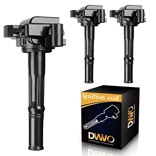 DWVO Ignition Coil Pack Compatible with 1995-2004 Toyota Tacoma, 2000-2004 Toyota Tundra, 1996-2002 Toyota 4Runner, 1995-1998 Toyota T100 - Set of 3