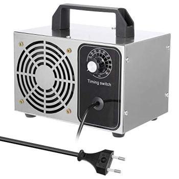 Meroteen Generador de Ozono Hogar 32,000mg/H,Máquina de Ozono Portátil con Interruptor de Temporización,Profesional Desinfectador de Ozono Para Coche,Habitación y Eliminación de Formaldehído.