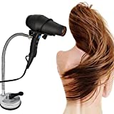 Hair Dryer Holder Stand , Stainless Steel 360 Degree Rotating Lazy Hair Dryer Stand with Suction Cup, Hands Free Blow Dryer Holder Countertop