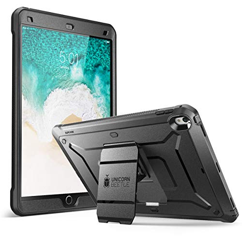 SUPCASE Unicorn Beetle PRO Case for iPad Air 3 (2019) and iPad Pro 10.5'' (2017), Heavy Duty with Built-in Screen Protector Full-body Rugged Protective Case (Black)