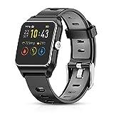 HolyHigh GPS Montre Connectée Montre Sport Podomètre Bluetooth Smartwatch IP68 Etache détection...