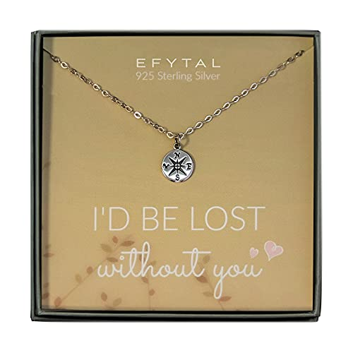EFYTAL Necklace Gift for Girlfriend / Wife, Sterling Silver...