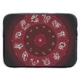 Círculo del Zodiaco con Signos del horóscopo Bolsas para computadora portátil compatibles con Tableta Netbook de 15 ″, maletín con Funda para Llevar Bolso de Mano