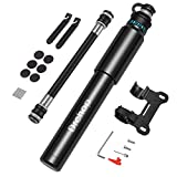 Portable Mini Bike Pump, Bicycle Tire Air Small Pump Hand Inflator Fits Presta & Schrader Valve,...