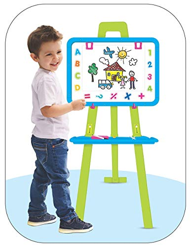 rk international 8 in1 magnetic writing activity board with stand   white board black board for boys...