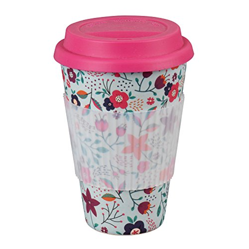 Cambridge CM04436 Poppy Flowers Reusable Sippy Mug with Silicone Lid and...