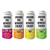 NOOMA Organic Pre-Workout   120mg Caffeine + Adaptogens + Electrolytes   Real Ingredients, Keto, Plant-Based, Paleo   No Added Sugar, 15 Calories   12 oz (Pack of 12) (Variety)