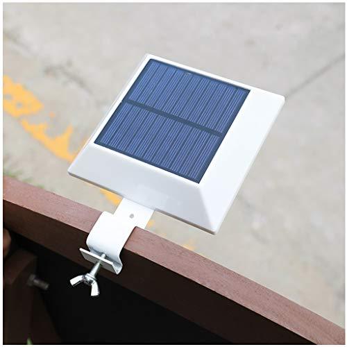 ESTEAR 12 LED Luce Solare Nera, Lampada Solare per Esterni Luce Calda / IP55 Impermeabile Duraturo/Recinzione Parete Giardino Patio Decking Light 2PCS