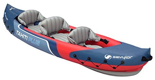 Sevylor Kayak Gonflable Tahiti Plus, Canoë Canadien 2+1 Personnes, Kayak de Mer, 363 x 88 cm