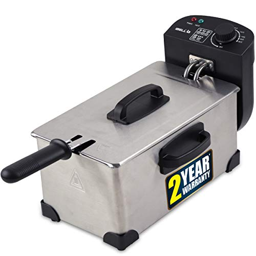 iBELL DF1113L-3 Litre Stainless Steel 2000W Electric Deep Fryer with Variable Temperature Control,Silver