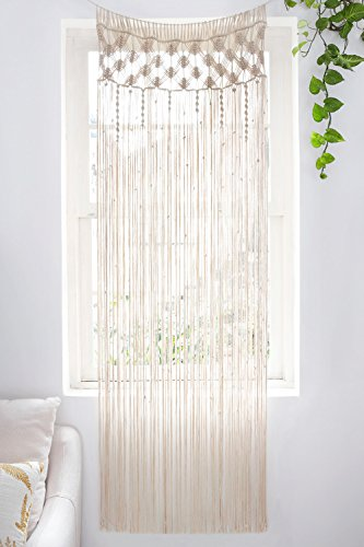 Mkono Macrame Curtain Wall Hanging, Doorway Window Curtains...