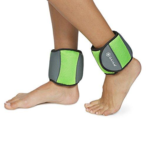 Gaiam Unisex's Ankle Weigjhts, 5lb Weights, 5-Pound Set (2.5lbs