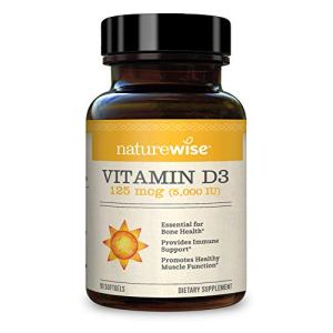 NatureWise Vitamin D3 5000iu (125 mcg) 1 Month Supply for Healthy Muscle Function, Bone Health and Immune Support, Non… 27