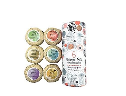 Champú para el cabello orgánico en barra paquete de 6 70g