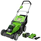 Greenworks 40V 17-Inch Cordless (2-In-1) Push Lawn Mower, 4.0Ah Battery and Charger Included MO40B411