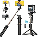 Bovon Perche Selfie Trépied, Bluetooth Selfie Stick Monopode Extensible...