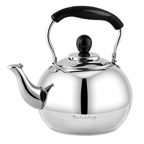 Stove Top Whistling Tea Kettle 2.5 Quart Classic teapot...