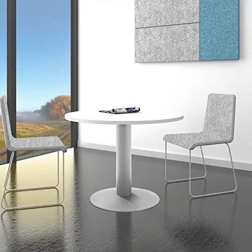 Optima runder Besprechungstisch Esstisch Küchentisch Tisch Weiß Rund Ø 100 cm