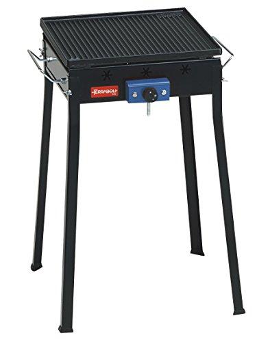 Ferraboli Ghisa Gas Mono - Barbecue (Automobile, Nero, Piazza, 5 cm, 49 cm, a 7 cm)